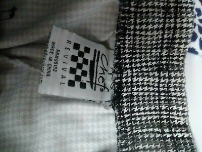 Chef Pants LG  Houndstooth  prev owned Graphic Print Mens Womens, good cond.