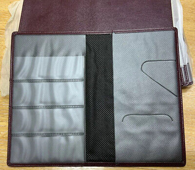 10 Job lot Burgundy Leather Restaurant Bill Presenter Card Wallet Size 10 x 16cm
