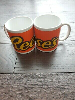 REESE'S PEANUT BUTTER CUPS Ceramic Mug Cup Set of 2 Dish/Micro Safe