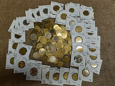 Lot Of Tons Of Euro 10 Cent To 2 Euro Coins 58.70 In Euros Free Shipping