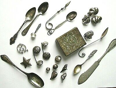Sterling Silver 925 950 800 Scrap Or Sell Lot 255 Gm 9.0 Oz Jewelry Cig Case