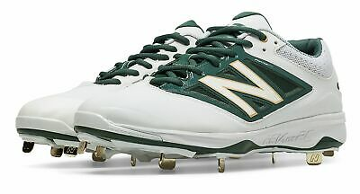 New Balance Low-Cut 4040v3 Metal Baseball Cleat Mens Shoes White with Green Size