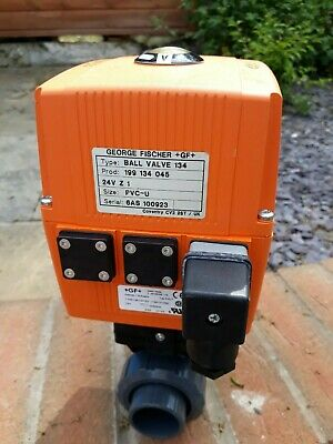 """Used George Fischer 134 Actuator with override & 1"""" ball valve fitted"""