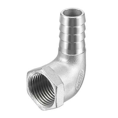 304 Stainless Steel Hose Barb Fitting Elbow 15mm x 1/2 NPT Female Pipe Connector