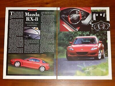 Mazda Rx-8 Magazine Article Car And Driver Return Of The Rotary Engine