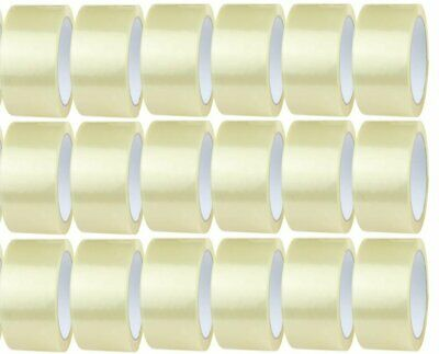 18 ROLLS OF CLEAR PARCEL PACKING SEALING TAPE 48mm X 66m VERY STRONG TAPE