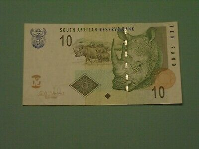 SOUTH AFRICA 2010 10 RAND CIRCULATED BANKNOTE P-128b