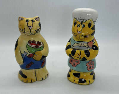 Catzilla Candace Reiter Chef and Cook Salt and Pepper Shaker Set
