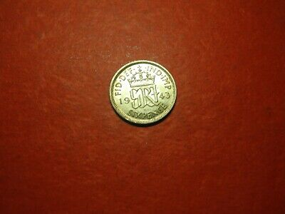 GBR533  - GREAT BRITAIN - 6  PENCE - 1943 - silver