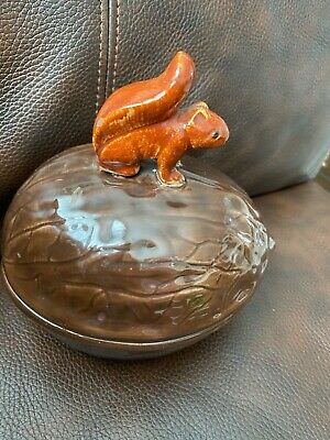 Vintage Holland Mold Walnut With A Squirrel On Top. Signed With Sh Early 70'S
