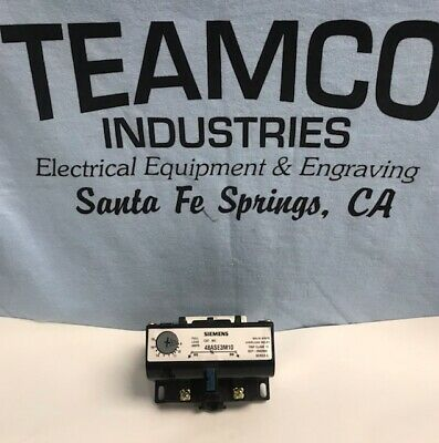 Siemens 48ASE3M10 Solid State Overload Relay 9-18 AMPS 3Phase 600VAC 50/60HZ NEW