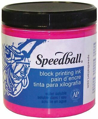 Speedball Water-Soluble Block Printing Ink, 8-Ounce, Magenta