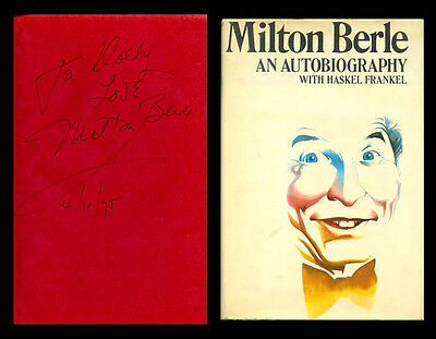 MILTON BERLE Autographed Signed Book An Autobiography