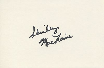SHIRLEY MACLAINE Autographed Signed CARD