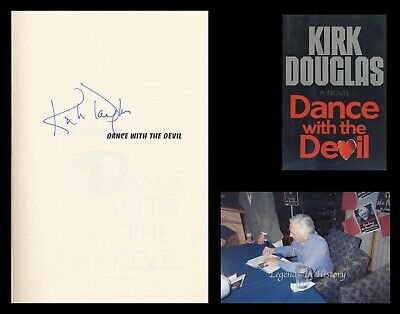 KIRK DOUGLAS Autographed Signed Book DANCE WITH THE DEVIL