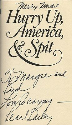 PEARL BAILEY Autographed Signed Book Hurry Up America & Spit