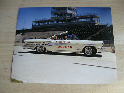 1958 Indianapolis 500 Pontiac Pace Car Tony Hulman, Sam Hanks 8x10 Color Photo