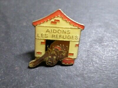 Collection Pins Objects Advertising Images, Dog, Aidons All Shelters, Dog Badget