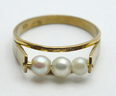 8 kt. 333 YELLOW GOLD WOMEN PEARL GOLD SCRAP OR WEAR RING weight - 1,92g : 7US