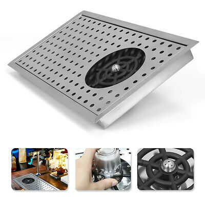"""Glass Rinser Drip Tray Cup Washer Cleaner 16.9""""×9""""304 For Bar  Stainless Steel"""