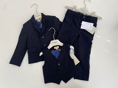 BNWT Paul Smith Junior Navy 'A Suit To Smile In' Wool Suit RRP £378 Up To 2yrs