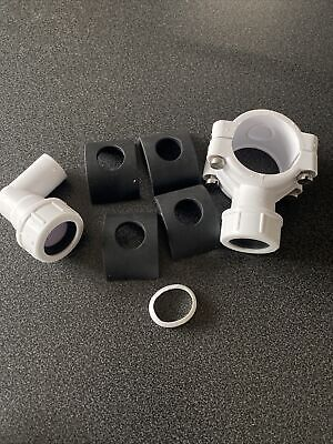"""McALPINE CLAMP1WH Pipe Clamp to suit 1¼""""/1½"""" Pipe (White) Condensate clamp"""