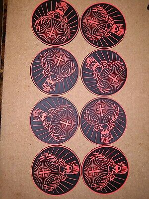 Jagermeister rubber bar coasters, set of 8 in excellent condition