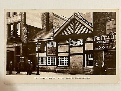 COLLECTABLE POSTCARD THE SEVEN STARS MACHESTER King George HALF PENNY STAMP