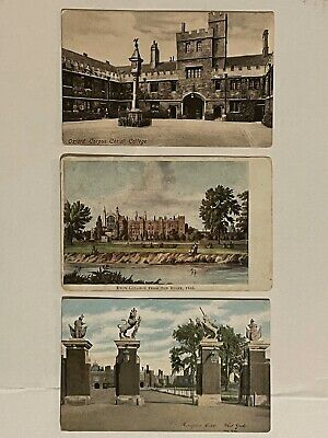 COLLECTABLE POSTCARDS  Hampton Court Corpus Christi College Oxford Eaton College