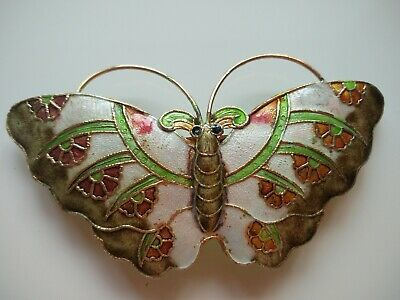 Rare Chinese Enamel  Cloisonne Hair Clip Butterfly Brand New 11.5cm Long