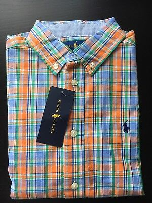 ralph lauren shirt boys New Size 7 Horse Logo