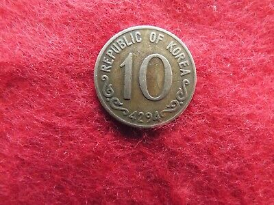 1959 Republic of Korea 10 Hwan coin (4294)