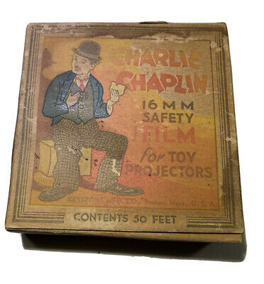Vintage Charlie Chaplin 16mm Safety Film for Toy Projectors Keystone Mfg. Co.