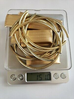 Reverse Electrolysis Gold Recovery Scrap Lot.(151 Grams) Gold Plated Jewelry!!