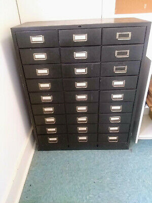 Vintage 27-Drawer Metal Cole Steel Cabinet in Excellent Condition
