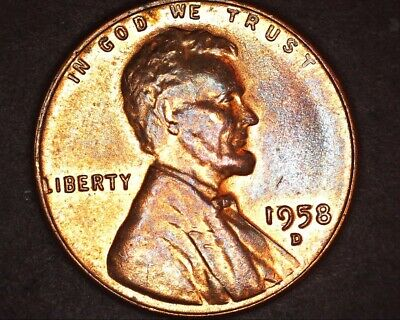 1958 d 1c rpm,dropped mm ? and other ? lincoln wheat cent (235)