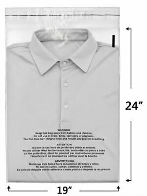 250 19x24 Self Seal Suffocation Warning Clear Poly Bags FBA 1.5 mil