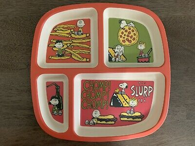Peanuts Worldwide LLC Snoopy Linus Lucy Charlie Brown Sally Divided Plate