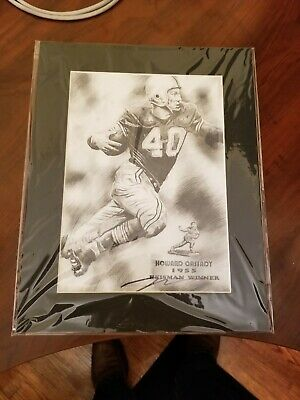 "Ohio State Heisman Winner 1955 ""Hopalong"" Cassidy Black/White Matted Picture"