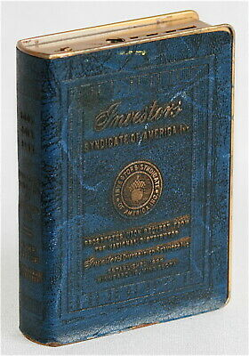 Investors Syndicate of America Still Coin Bank * Blue & Gold Book Acorn on Back