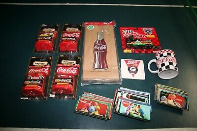 Coca-Cola Collectables Diecast Cars, Advertising Cards, Lunch Bags Coffee Cup