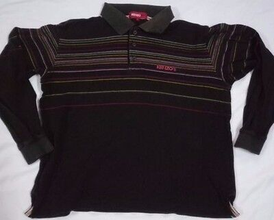 Kenzo Golf Polo Shirt T Classic Striped Long Sleeve Casual Summer