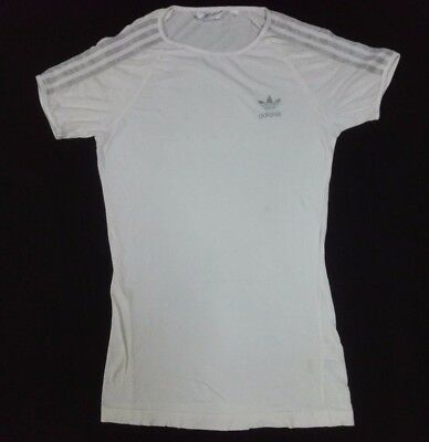 ADIDAS TREFOIL TRIKOT T-Shirt Top Women Girl Small Blouse Long Sportswear Sz 38