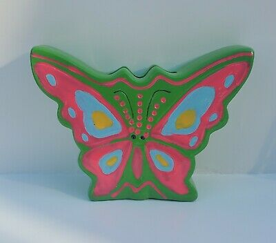 Small Ceramic Butterfly Coin Bank
