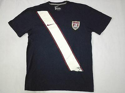 VINTAGE NIKE USA SOCCER TEAM PROMO T SHIRT Number #10 L Sportswear Athletic