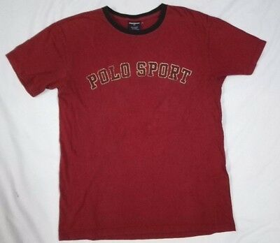 POLO SPORT RALPH LAUREN 01 NUMBER LOGO T SHIRT S M Spell Out