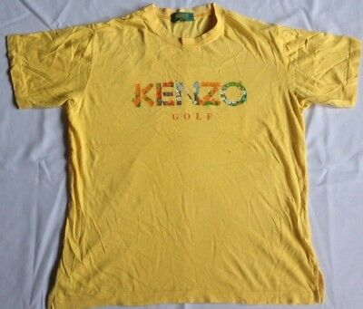 Kenzo Golf T Shirt Short-sleeve Graphic Art Girl Women Sz 2 M Jeans Spell Out