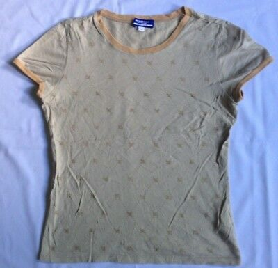 BURBERRY LONDON BLUE LABEL T Shirt Girl M Nova Check Monogram