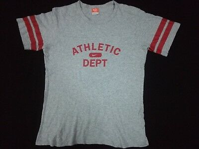 NIKE ATHLETIC DEPT SPELL OUT T SHIRT MEDIUM M Sportswear Gray Unisex Men's