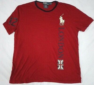 Polo Sport Ralph Lauren London England Flag Logo T Shirt Us Olympic Team 2012